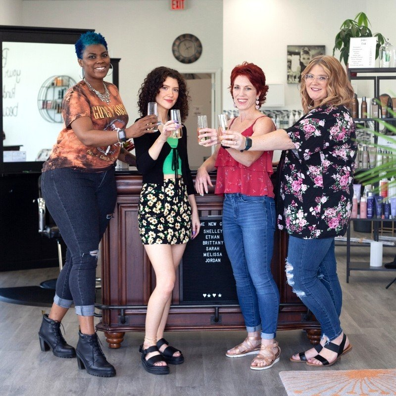about the stylists at knockout hair salon concord nc